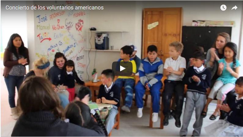 Apoyo de voluntarios americanos en la Fundación