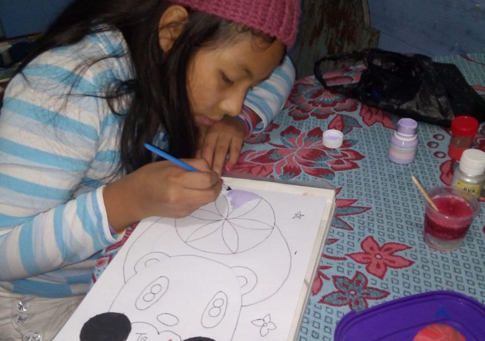 Concours de peinture à la Fondation.